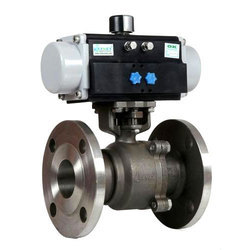 SS Pneumatic Operated Flange End Ball Valve