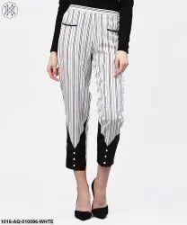 Black and White Striped Trouser, Size: S-XXL