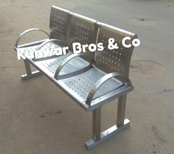 3seater Visitor waiting Chair Stainless steel