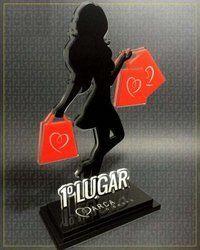Ladies Shape Acrylic Trophy