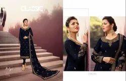 Designer Embroidery Straight Salwar Kameez