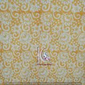 Brown And Cream Gad Gal Hand Block Print Cotton Fabric
