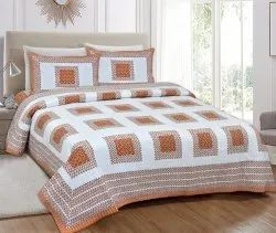 Figure Print King Size Cotton Bed Sheet