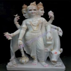 Marble  Dattatreya Marble Statue