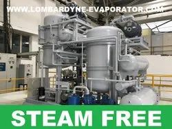 Single Stage Multiple Effect Evaporators, Treated Water Quality: 200 TDS or Less