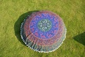 Six Colour Of Mandala Round Cushion