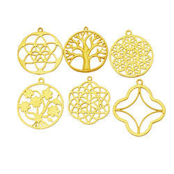 Tree Shape Metal Charm Pendant
