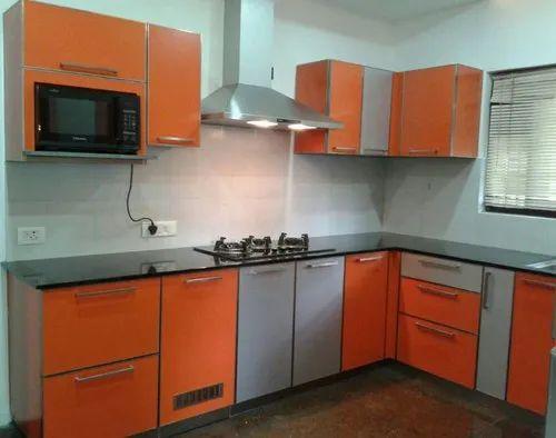 Amcom Compresed Wood Modular Kitchen Cabinet Size 120 X32 X24inch Rs 1200 Unit Id 16625870033