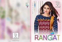 Ladyview Rangat Series 1001-1006 Stylish Party Wear Cotton Flex Kurti