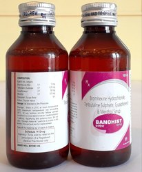 Bromhexine Hydrochloride, Terbutaline Sulphate, Guaiphenesin & Menthol Syrup