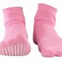 Ladies Ankle Length Pink Nofall Socks