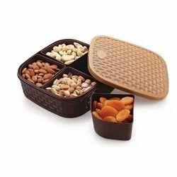 Titan 4 Sections Multipurpose Dry Fruit Box