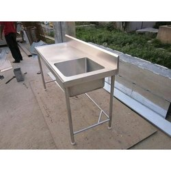 Single Bowl steel planet Stainless Steel Kitchen Sink, For Commercial