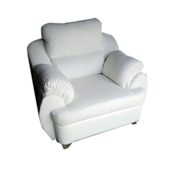 The Woodville Modern White Sofa Chair, Back Style: High Back