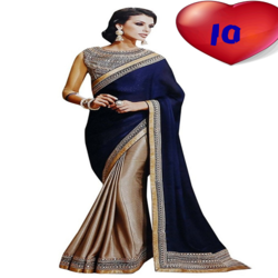 Georgette Embroidered Indian Party Wear Saree