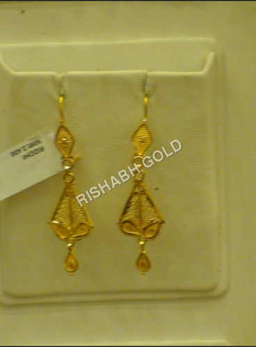 Saudi Gold Earrings Gold Gold Jewellery Rishabh Gold Jewels