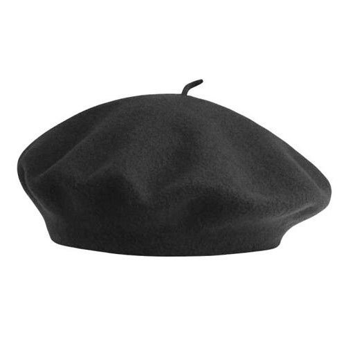 b45511a5c1cb2 Black French Beret Cap