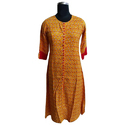 Cotton Printed Jaipuri Straight Kurti