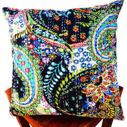 Same As A Picture Kantha Indian Handmade Embroidered Paisley Print