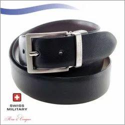 Swiss Military Genuine Leather Men Belt
