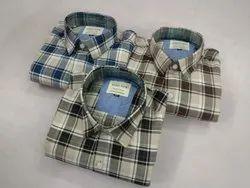 Collar Neck Printed Mens Casual Shirts