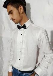 R.M.C Cotton Pintex White Shirts, Machine wash
