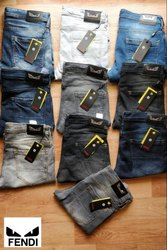 Mens Plain Faded Jeans