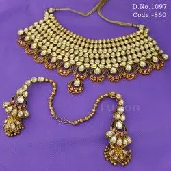 Traditional Vilandi Kundan Meenakari Bridal Necklace Set