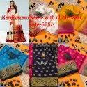 Tushar Real Zari Gold Kanjivaram Silk Saree, Packaging Type: Box