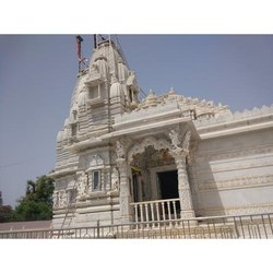 Big White Marble Temple Construction Service