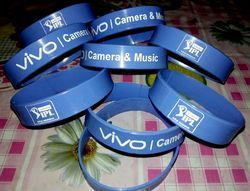 Blue Silicone Wrist Bands