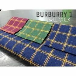 Cotton Twill Check Shirting Fabric