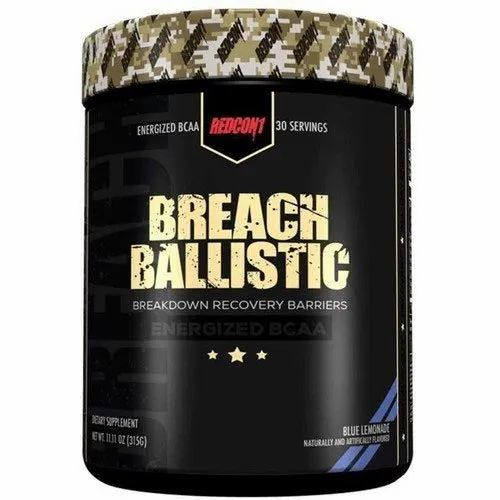 Boost Energy Redcon1 Breach Ballistic Blue Lemonade BCAA Powder