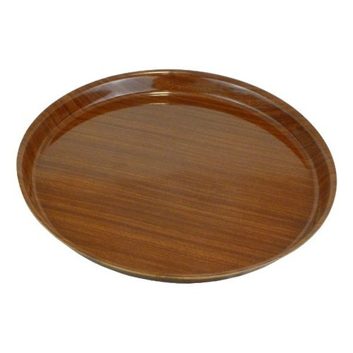Eston Brown Wooden Round Serving Tray Size 12inch To 24 Inch