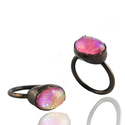 Glass Opal Ring