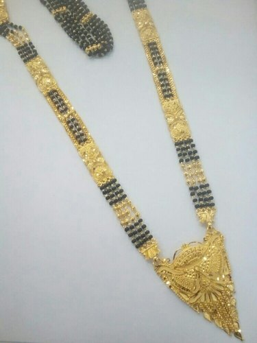 1 Gram Gold Mangalsutra Size 33 Rs