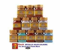 Acrylic  Solid Metallic Colour Set