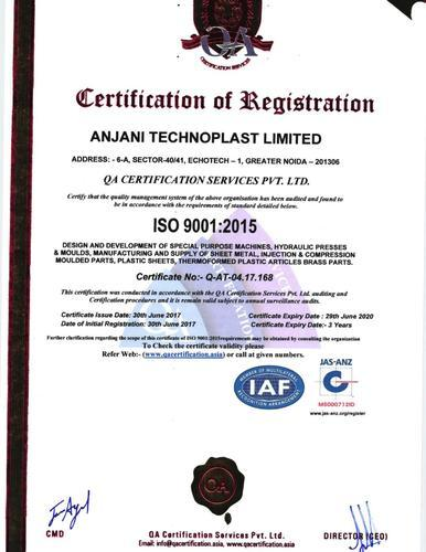 Anjani Technoplast Limited - Manufacturer from Greater Noida