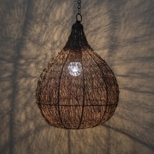 Wire Light Pendant | Warm White Twisted Wire Crown Hanging Pendant Light 40w Rs 779