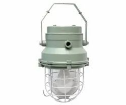 LED Metal FLP Well Glass Fitting, For Industrial
