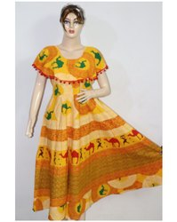 Ladies Yellow Frock