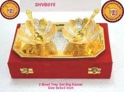 2 Bowl Tray Set Big Kamal
