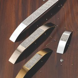 Zinc Stellux Crystal Cabinet Handle