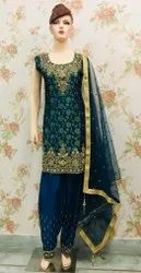 Embroidery work patiala suits for ladies