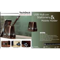 USB Hub with Stationery & Mobile Holder
