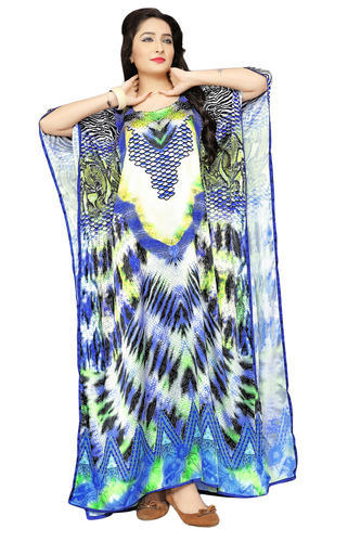 8463656fe3 Multi Japan Satin Silk Beach Wear 3D Digital Printed Satin Silk Women' s  Kaftans,