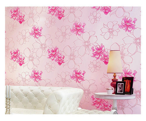 Living Room Flower Wallpaper at Rs 85 /square feet | लिविंग ...