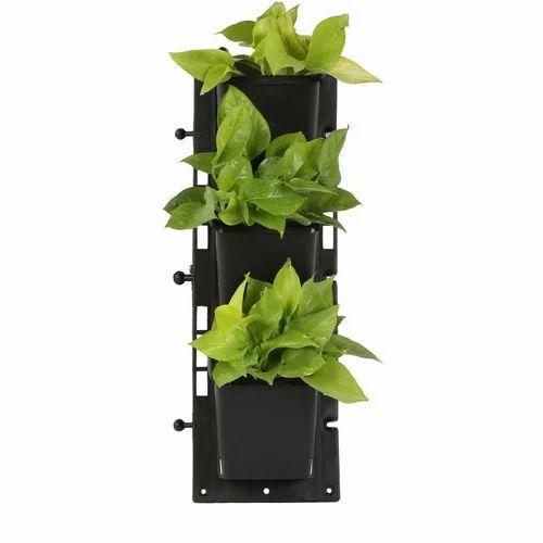 Black Vertical Garden Panel