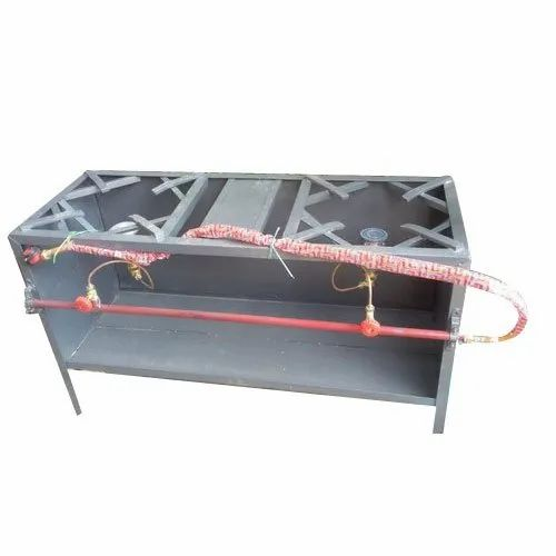 Commercial Two Burner LPG Stove, for Hotel and Restaurant