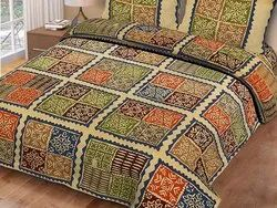 Cotton Bedsheet Double Bed Ajrak Print